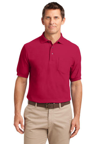 Port Authority¬ Tall Silk Touch» Polo with Pocket., Polos/Knits, Port Authority ThreadedLogo