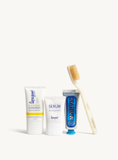 Supergoop! x Marvis Ready, Set, Jet Travel Kit