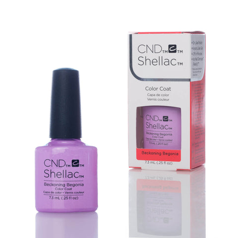 CND Shellac UV Nail Polish - Beckoning Begonia 7.3ml - Gel Addicts  - 2