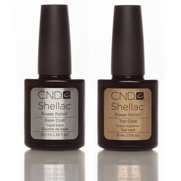 CND Shellac Base & Top Coat Duo 15ml - Gel Addicts