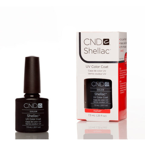 CND Shellac UV Nail Polish - Asphalt 7.3ml - Gel Addicts  - 2