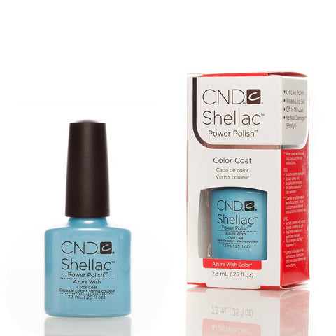 CND Shellac UV Nail Polish - Azure Wish 7.3ml - Gel Addicts  - 2