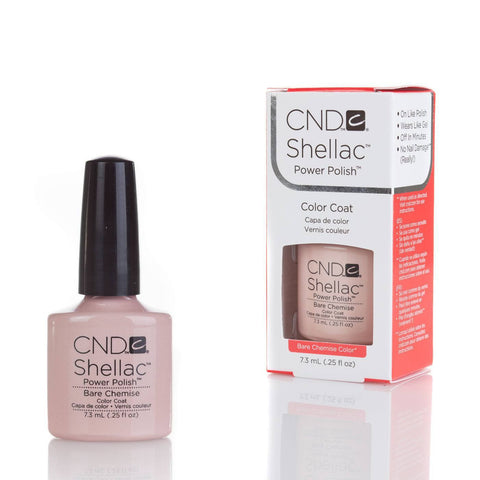 CND Shellac UV Nail Polish - Bare Chemise 7.3ml - Gel Addicts  - 2