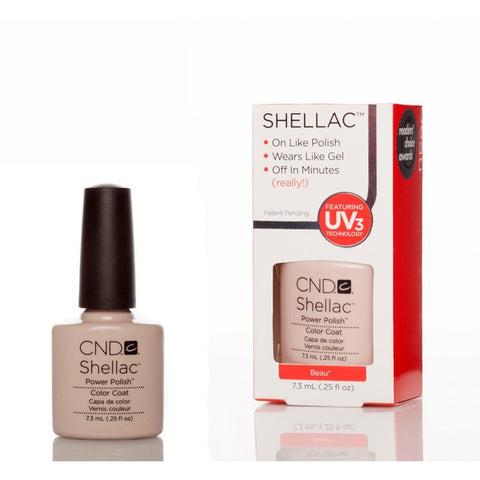 CND Shellac UV Nail Polish - Beau 7.3ml - Gel Addicts  - 2