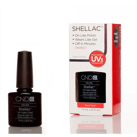CND Shellac UV Nail Polish - Black Pool 7.3ml - Gel Addicts  - 2