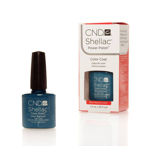 CND Shellac UV Nail Polish - Blue Rapture 7.3ml - Gel Addicts  - 2