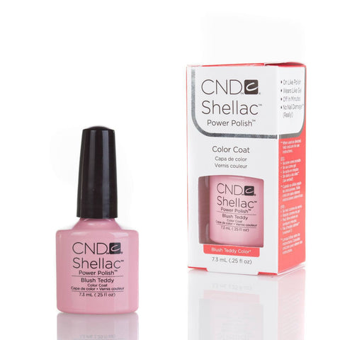 CND Shellac UV Nail Polish - Blush Teddy 7.3ml - Gel Addicts  - 2