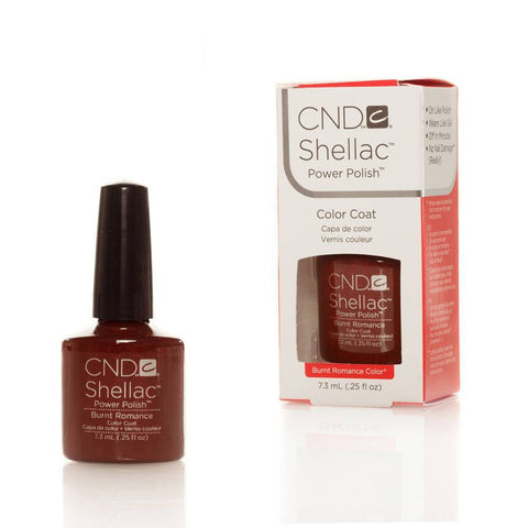 CND Shellac UV Nail Polish - Burnt Romance 7.3ml - Gel Addicts  - 2