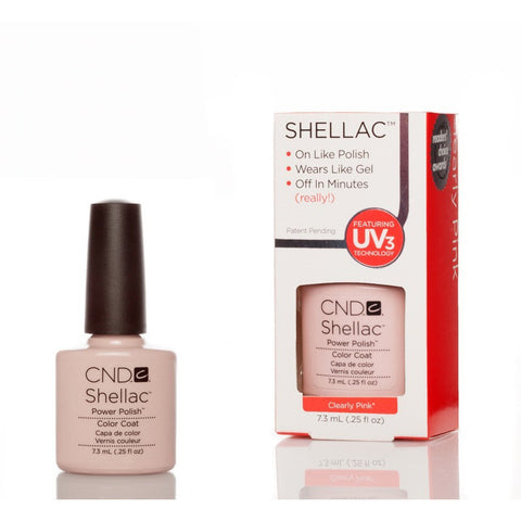 CND Shellac UV Nail Polish - Clearly Pink 7.3ml - Gel Addicts  - 2