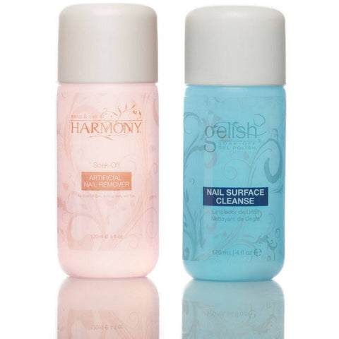 Harmony Gelish Cleanser & Remover Duo 120ml - Gel Addicts