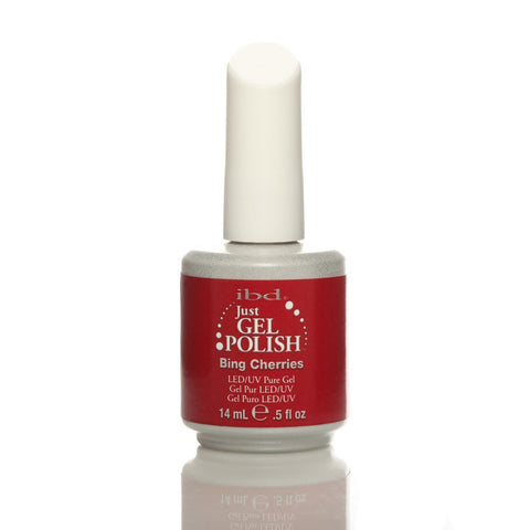 IBD Just Gel UV Nail Polish - Bing Cherries 14ml - Gel Addicts  - 1
