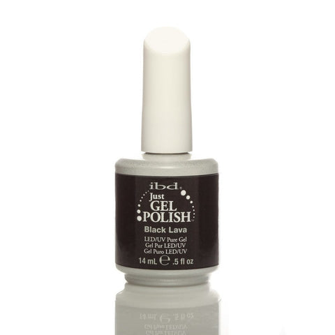 IBD Just Gel UV Nail Polish - Black Lava 14ml - Gel Addicts  - 2