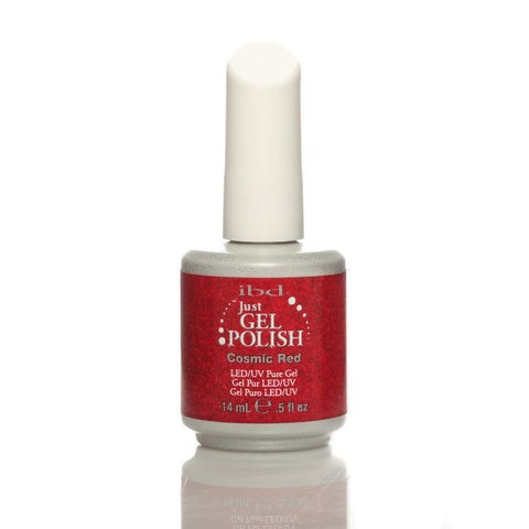 IBD Just Gel UV Nail Polish - Cosmic Red 14ml - Gel Addicts  - 2