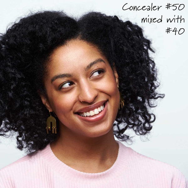 Concealer 50 mixed with 40