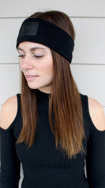 Cashmere Ear Warmer Headband - Black