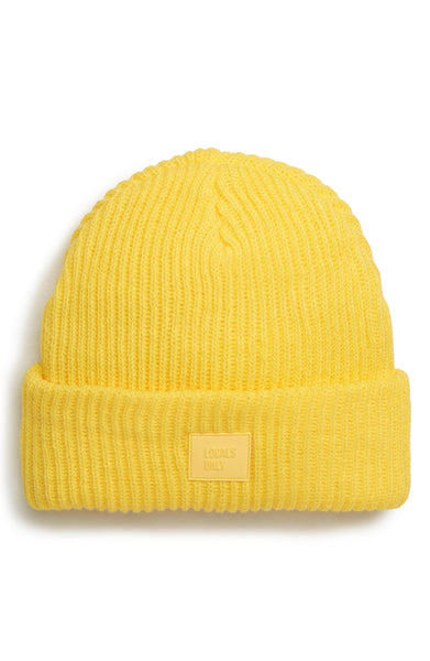 Ribbed Beanie Hat - Lemon
