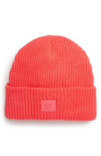 Ribbed Beanie Hat - Strawberry