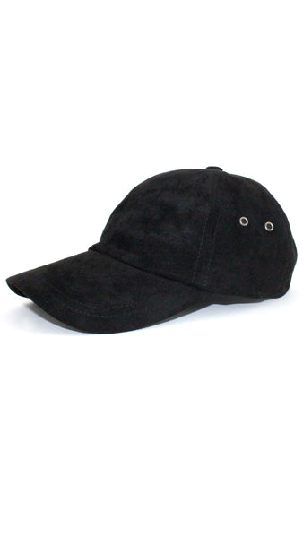 Ultra Suede Baseball Cap - Black