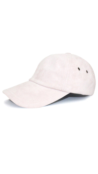 Ultra Suede Baseball Cap - Blush