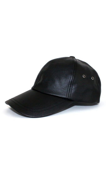Waxed Baseball Cap - Black