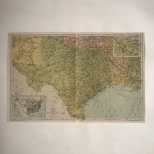 Vintage Texas Map