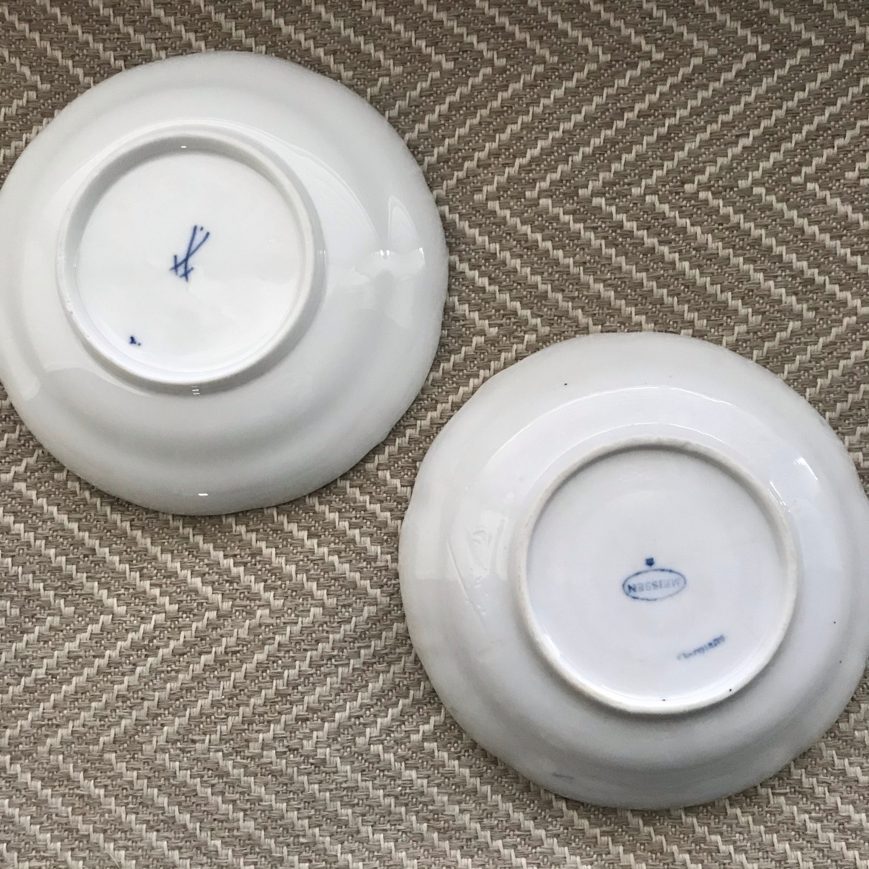 Pair of Blue and White Dishes