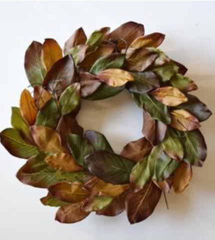 Autumn Magnolia Wreath