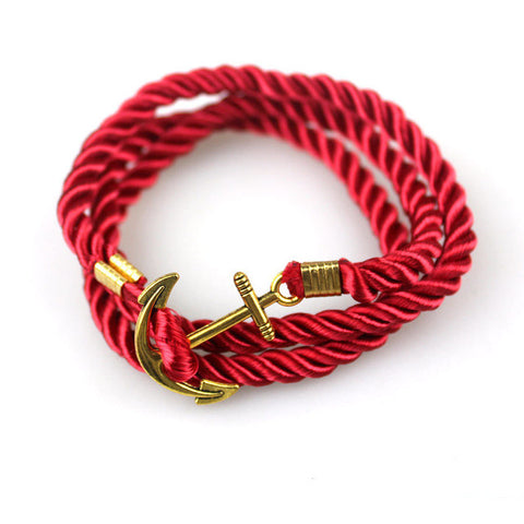 Vintage Anchor Rope Bracelet (6 Colour) - Style Nation Singapore