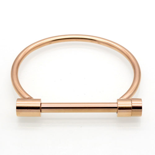 Cratus Cuff Bracelet - Rose Gold - Style Nation Singapore