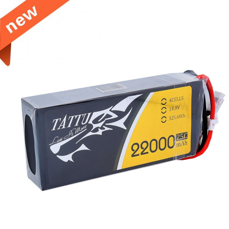 Tattu 22000mAh 14.8V 25C 4S1P Lipo Battery Pack
