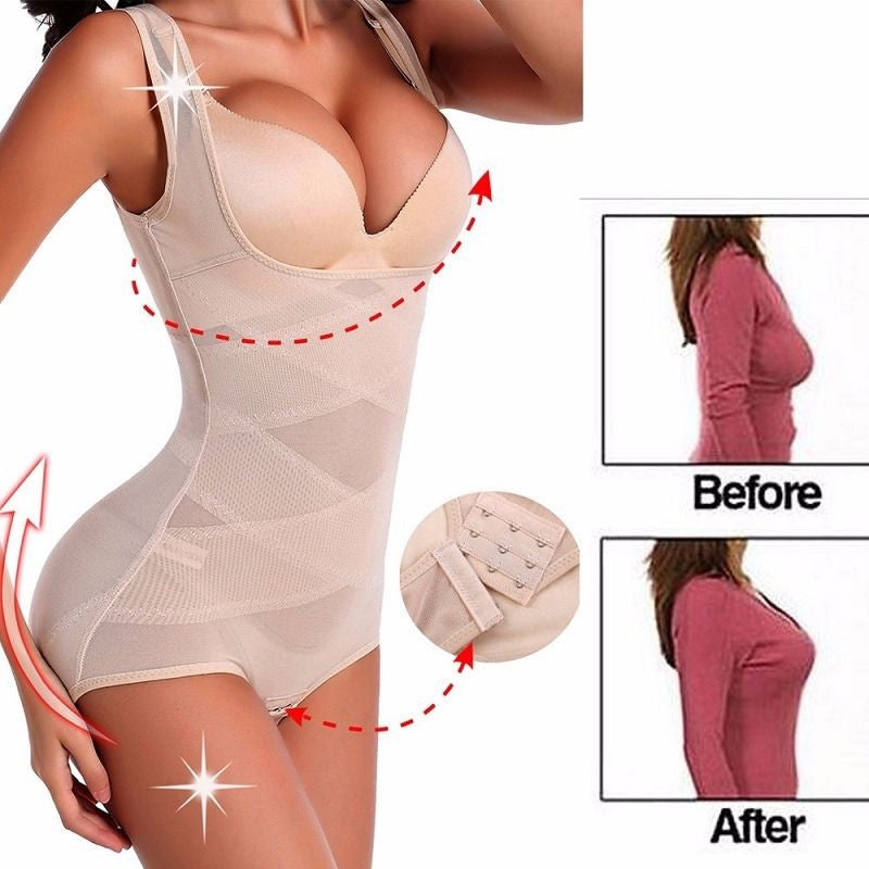 Women Bodysuit. Waist Trainer Shapewear. Full Body Shaper Slimming Bodysuit.  Waist Cincher Corset.
