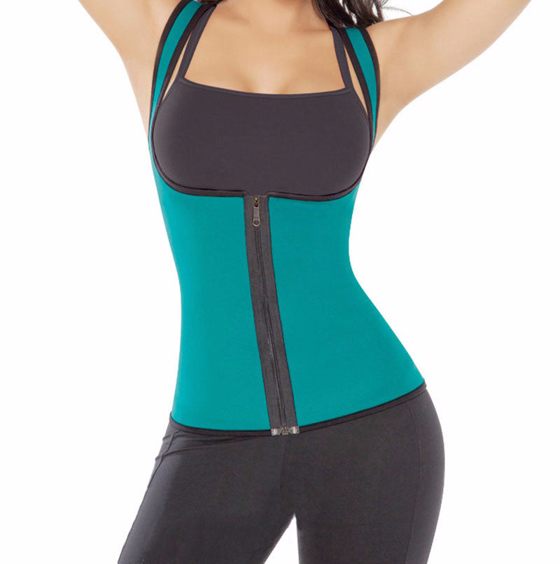 Neoprene Body Shaper. Posture Corrector For Small & Plus Size Women.  Fat Burning Sweat Enhancing Waist Cincher Corset.