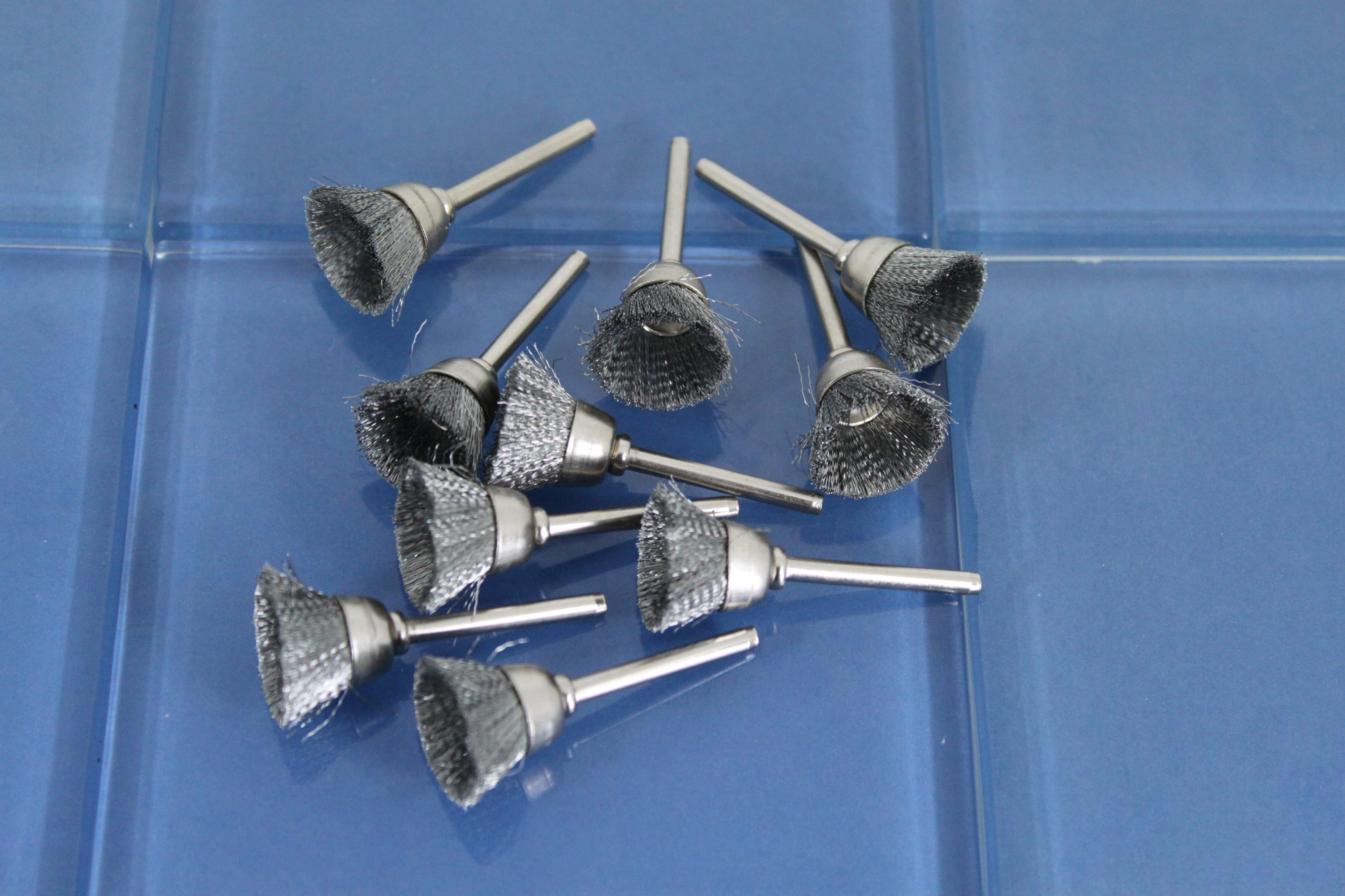 TEMO 10 pc Carbon Steel 1/2 inch (13mm) Cup Wire Brushes #442 with 1 ...