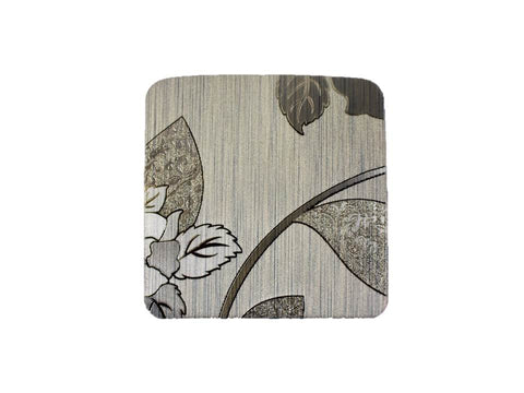 TEMO 4pc coasters, PVC Heat Resistant Table Mats for Kitchen Dining [Brown roses]