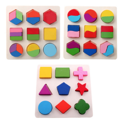 Geometric Wooden Learning Puzzle for Kids