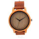 Bamboo Watch Genuine Leather Band (58% OFF!)