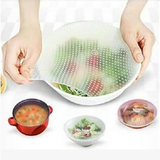 Reusable Stretchable Food Covers 4 pcs (50% off)