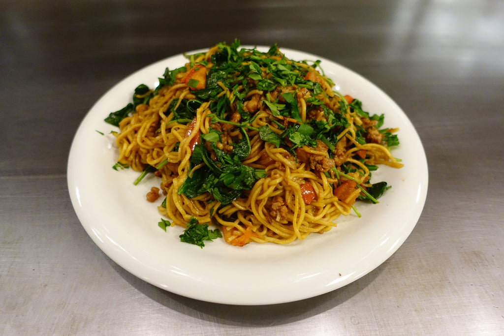 Italian Sausage Yakisoba (an Umami Culture Kit recipe)