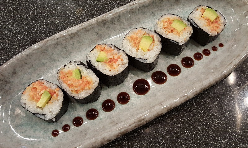 Gluten Free Spicy Tuna Roll with Sushi Sauce