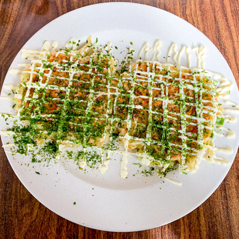 Okonomiyaki from Cheeky Cafe, Seattle