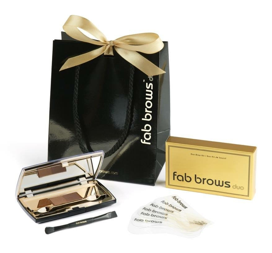 Fab brows duo kit Light brown/medium brown