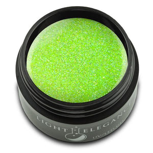 Electric Lime UV/LED Glitter Gel - Light Elegance