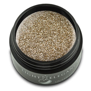 Gold UV/LED Glitter Gel - Light Elegance