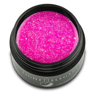 Hot Pink UV/LED Glitter Gel - Light Elegance