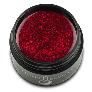 Ravishing Red UV/LED Glitter Gel