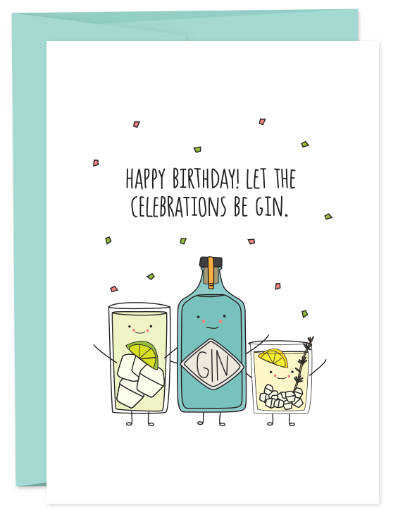 Happy Birthday - Celebrations Be Gin