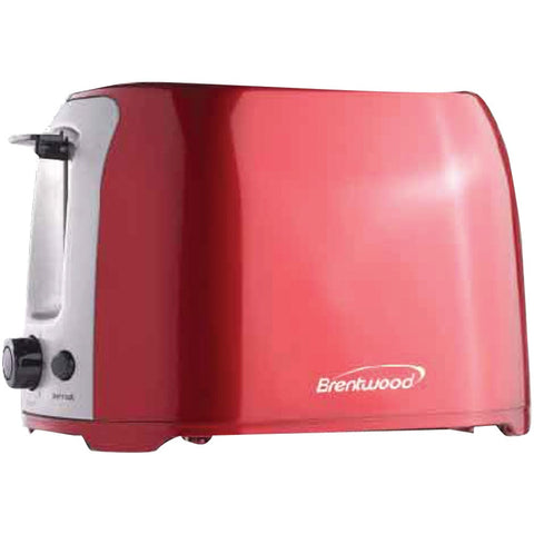 BRENTWOOD TS-292R 2-Slice Cool Touch Toaster (Red & Stainless Steel)