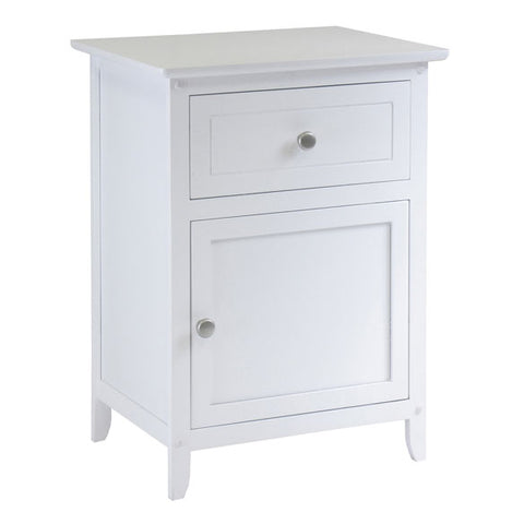Eugene Night Stand Accent Table White, with Drawer | Pier 54 home and Outdoor