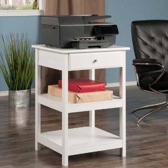 Winsome Wood Delta Printer Stand White | Pier 54 Home and Outdoor