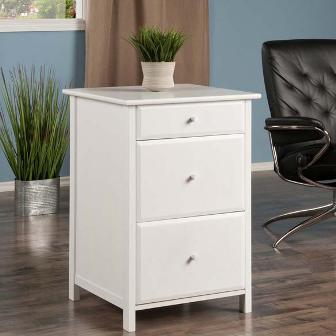 Winsome Wood Delta File Cabinet White | Pier 54 Home and Outdoor